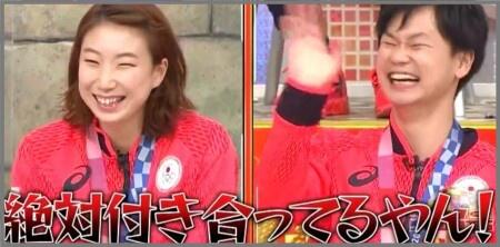 渡辺東野ペア バトミントン 東京オリンピック 銅メダル 熱い抱擁 付き合っている