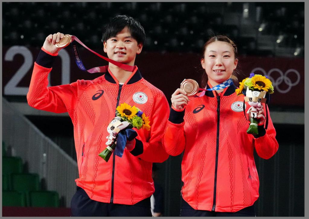 渡部東野ペア バトミントン 東京オリンピック 銅メダル